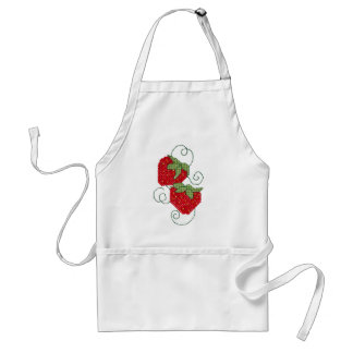 Strawberries Cross Stitch Standard Apron