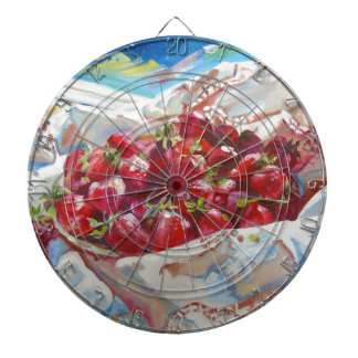 Strawberries Dartboard With Darts