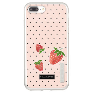 Strawberries & Dots Personalized Incipio DualPro Shine iPhone 8 Plus/7 Plus Case