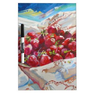 Strawberries Dry-Erase Whiteboard