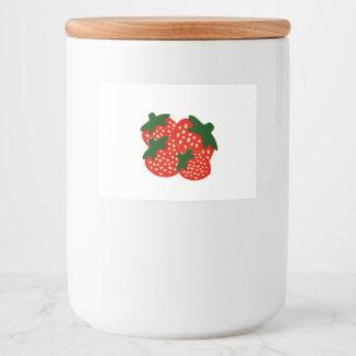 Strawberries Food Label