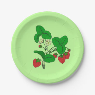 Strawberries for Breakfast Paper Plate