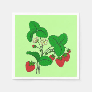 Strawberries for Breakfast Paper Serviettes