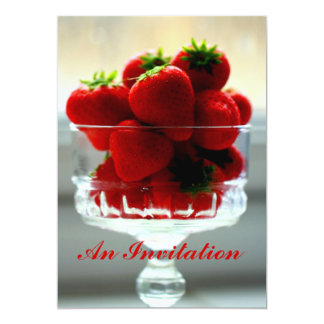Strawberries in a Bowl Invitation