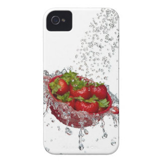 Strawberries in a red colander iPhone 4 covers