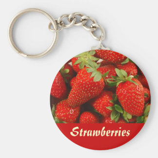 Strawberries Key Ring