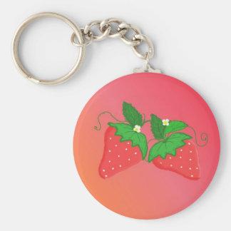 Strawberries Key Ring