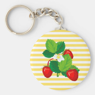 Strawberries Keychain