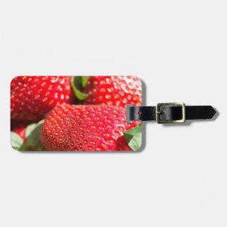 Strawberries Luggage Tag