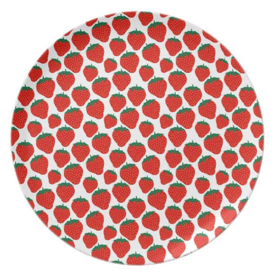 Strawberries melamine plate
