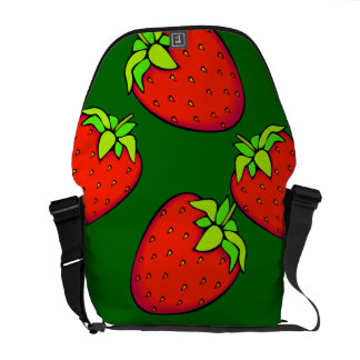 strawberries messenger bag