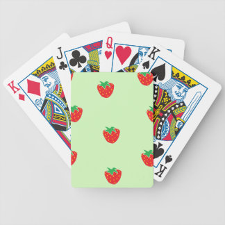 Strawberries Mint Green Bicycle Playing Cards