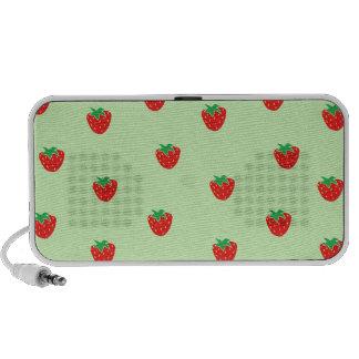 Strawberries Mint Green iPod Speaker