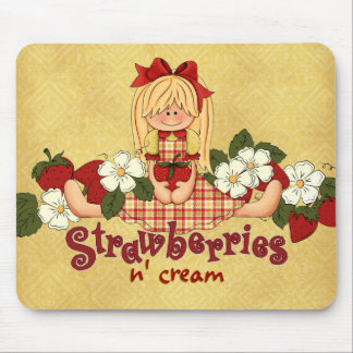 Strawberries N' Cream Mouse Pad