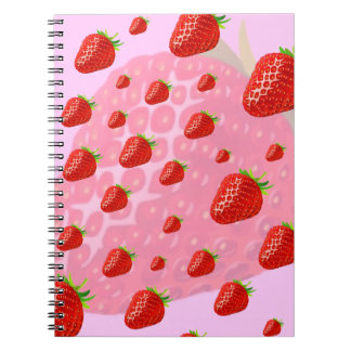 Strawberries notebook. notebooks
