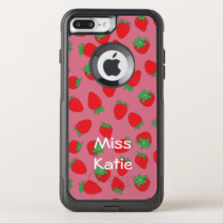 Strawberries on Pink OtterBox Commuter iPhone 7 Plus Case