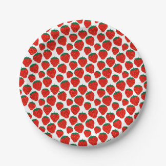 Strawberries paper plate