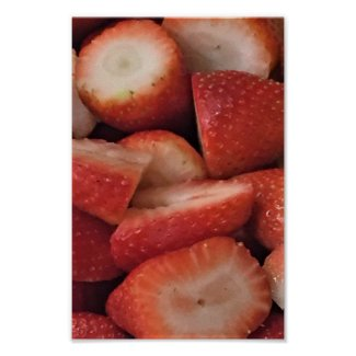 Strawberries Photo Poster