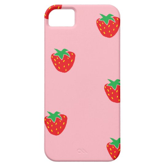 Strawberries Pink iPhone 5 Case