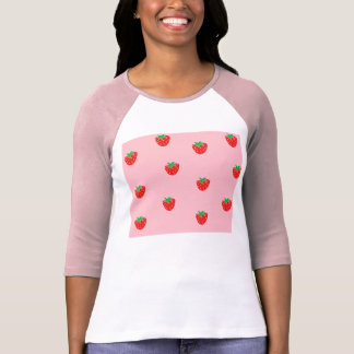 Strawberries Pink T-Shirt