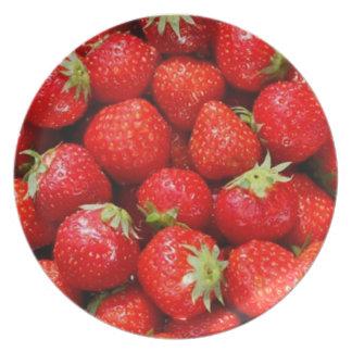 Strawberries Plate