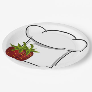 Strawberries Please 9 Inch Paper Plate