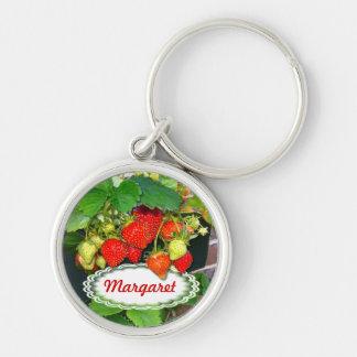 Strawberries ~ Premium Round Keychain