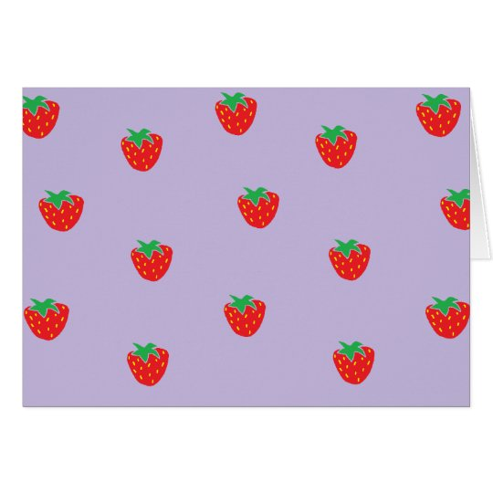 Strawberries Purple Card