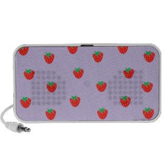 Strawberries Purple Notebook Speaker