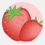 Strawberries Round Sticker