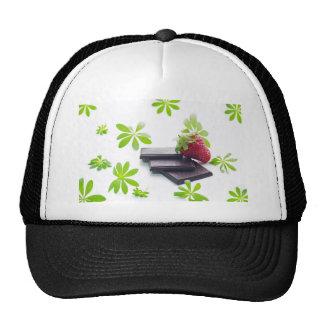 Strawberries Schoko woodruff still life Mesh Hats