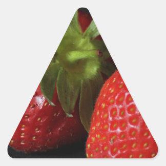 strawberries triangle sticker