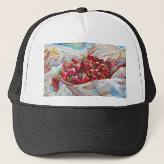 Strawberries Trucker Hat