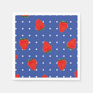 strawberries with dots paper napkin