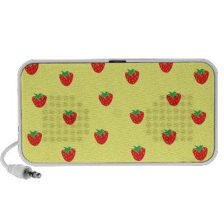 Strawberries Yellow Notebook Speaker