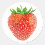 Strawberry #1 round sticker