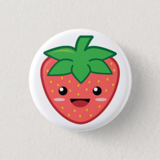 Strawberry 3 Cm Round Badge