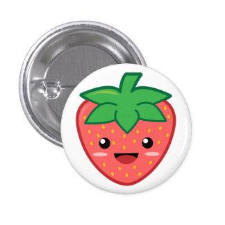 Strawberry 3 Cm Round Badge