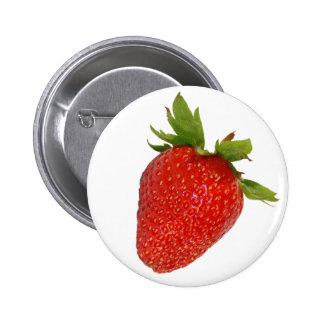 strawberry 6 cm round badge
