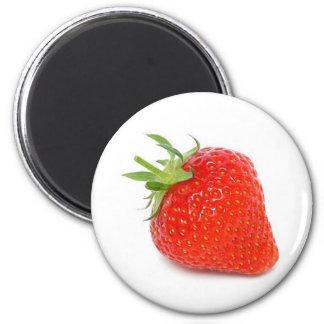 Strawberry 6 Cm Round Magnet