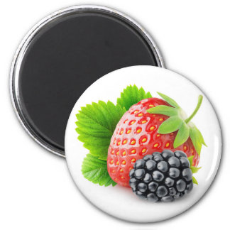 Strawberry and blackberry magnet