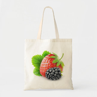 Strawberry and blackberry tote bag
