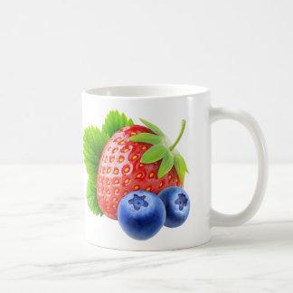 Strawberry and blueberries coffee mug