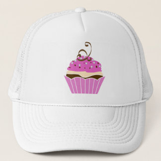 Strawberry and Chocolate Cupcake Trucker Hat
