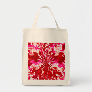 Strawberry and cream grocery tote bag