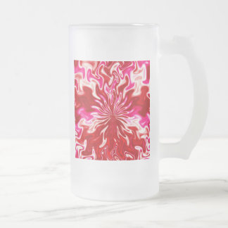 Strawberry and cream frosted glass mug