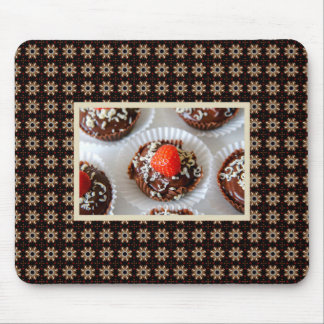 Strawberry and Dark Chocolate Mousse Dessert Mouse Pad