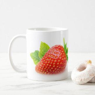 Strawberry and mint coffee mug