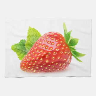 Strawberry and mint tea towel