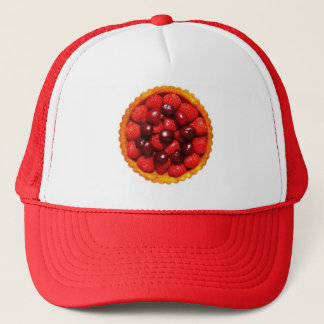 Strawberry Art Flan Trucker Hat